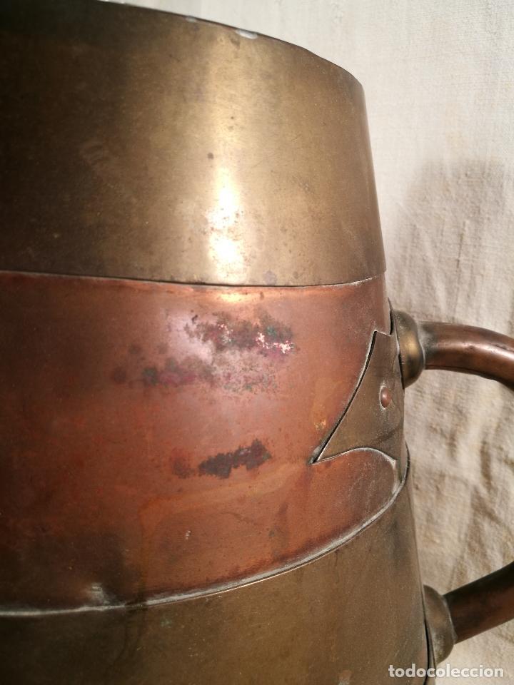 Antigüedades: GRAN MESURA-MEDIDA DE GRANO, SELLA BALDE AÑO 1900.EN COBRE Y LATON CELEMIN-CUARTERA-FANEGA - Foto 30 - 101469203