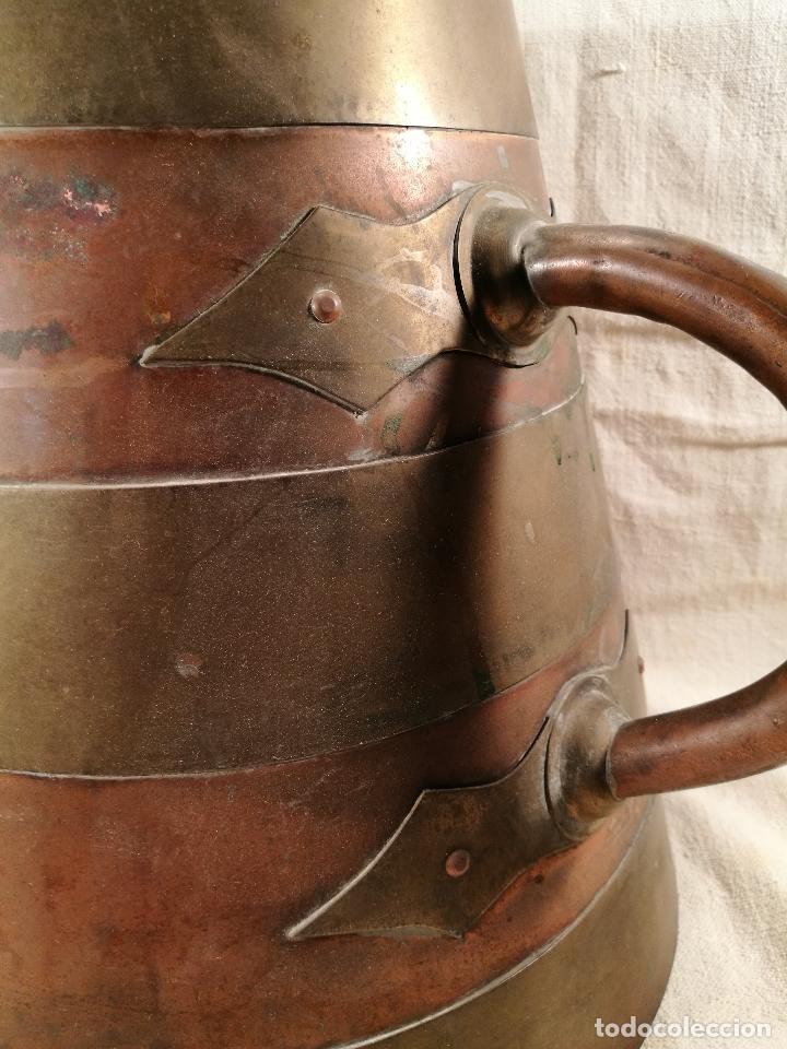 Antigüedades: GRAN MESURA-MEDIDA DE GRANO, SELLA BALDE AÑO 1900.EN COBRE Y LATON CELEMIN-CUARTERA-FANEGA - Foto 35 - 101469203