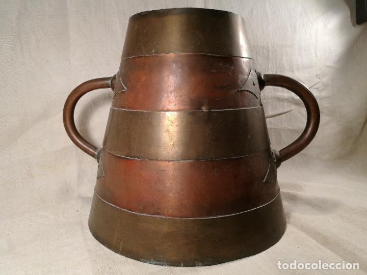 Antigüedades: GRAN MESURA-MEDIDA DE GRANO, SELLA BALDE AÑO 1900.EN COBRE Y LATON CELEMIN-CUARTERA-FANEGA - Foto 37 - 101469203