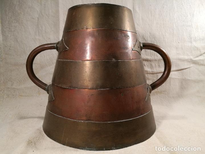 Antigüedades: GRAN MESURA-MEDIDA DE GRANO, SELLA BALDE AÑO 1900.EN COBRE Y LATON CELEMIN-CUARTERA-FANEGA - Foto 39 - 101469203