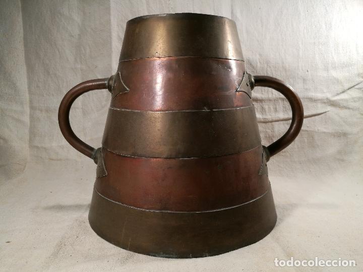 Antigüedades: GRAN MESURA-MEDIDA DE GRANO, SELLA BALDE AÑO 1900.EN COBRE Y LATON CELEMIN-CUARTERA-FANEGA - Foto 41 - 101469203