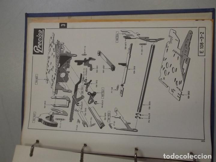 Antigüedades: LIBRO DESPIECE Y REPARACION DE MAQUINA SUMADORA MARCA PRECISA, MODELO 108 EN BUEN ESTADO - Foto 4 - 101526699