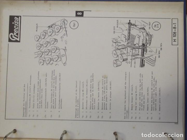 Antigüedades: LIBRO DESPIECE Y REPARACION DE MAQUINA SUMADORA MARCA PRECISA, MODELO 108 EN BUEN ESTADO - Foto 8 - 101526699