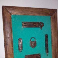 Antigüedades: CUADRO CON HERRAJES MIDE 34 X 29 CM . Lote 101528027