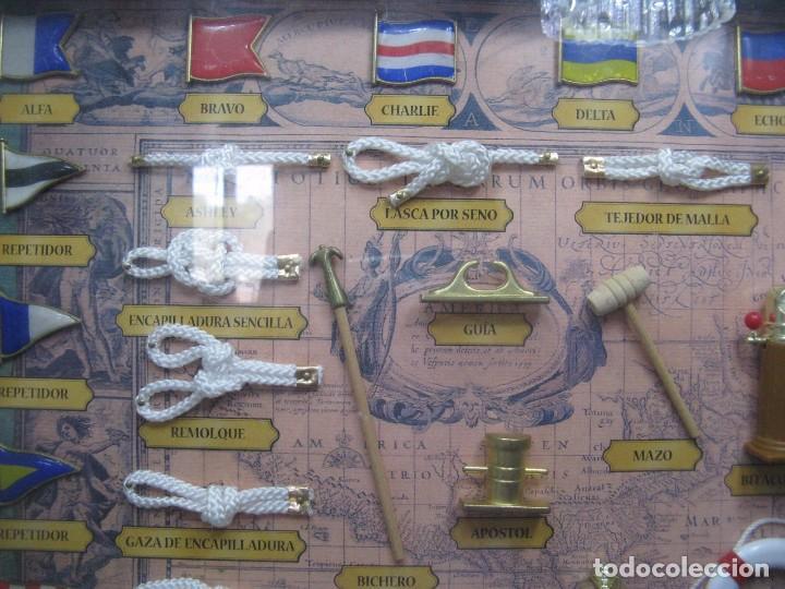 Antigüedades: GRAN CUADRO NAVAL, NUDOS, BANDERAS, ANCLAS ETC - Foto 4 - 101540755