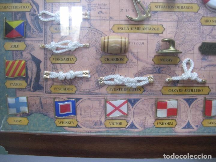 Antigüedades: GRAN CUADRO NAVAL, NUDOS, BANDERAS, ANCLAS ETC - Foto 5 - 101540755
