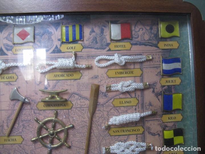 Antigüedades: GRAN CUADRO NAVAL, NUDOS, BANDERAS, ANCLAS ETC - Foto 6 - 101540755