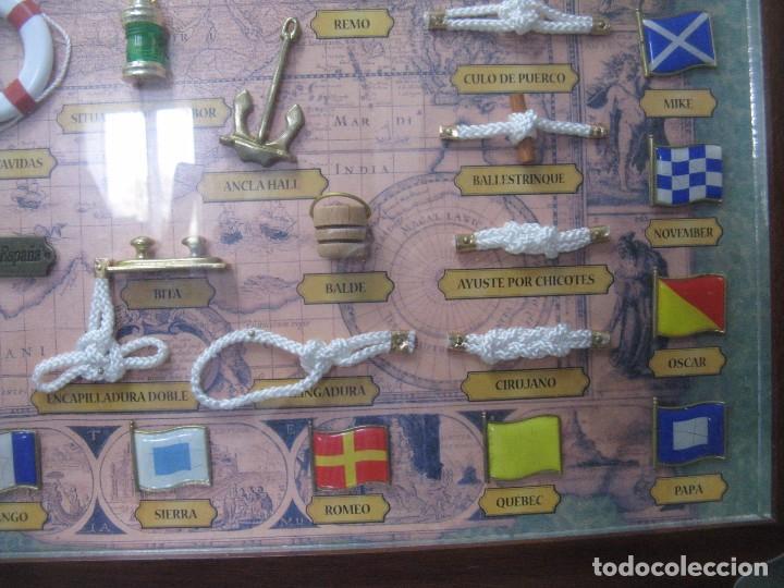Antigüedades: GRAN CUADRO NAVAL, NUDOS, BANDERAS, ANCLAS ETC - Foto 7 - 101540755