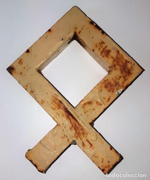 Antigüedades: REMATE DE VERJA. HIERRO FORJADO. ESPAÑA. SIGLO XX. - Foto 2 - 101544111
