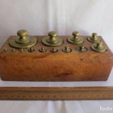 Antigüedades: TACO DE PESAS DE LOS AÑOS 30. Lote 101624079