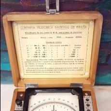 Antigüedades: MILIVOLTIMETRO COMPANIA NACIONAL TELEFONICA DE ESPAÑA EGSA,MUY BUEN ESTADO,VER DETALLES.. Lote 101789551