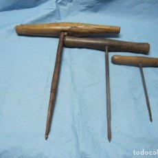 Antigüedades: LEZNAS LEZNA ENORME ANTIGUA ANTIGUAS DE VARIOS TAMAÑOS. Lote 101981775
