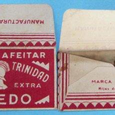 Antigüedades: HOJA DE AFEITAR. GLADIATOR TRINIDAD ROJO. ACERO CALIDAD TOLEDO. HIJOS DE R. ROJO, S. A.. Lote 195811708