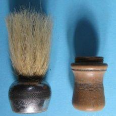 Antigüedades: BROCHA DE AFEITAR DESMONTABLE. DE MADERA Y METÁLICA, SIN FECHA.. Lote 102015931