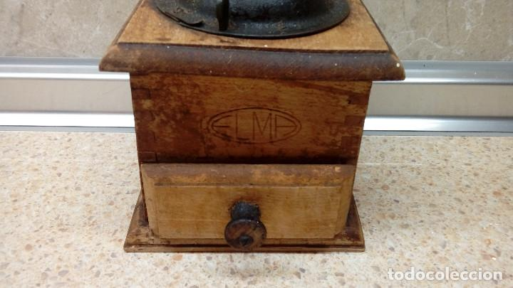 Antigüedades: MOLINILLO PEQUEÑO DE CAFE ELMA EN MADERA * FUNCIONANDO * - Foto 2 - 102066699