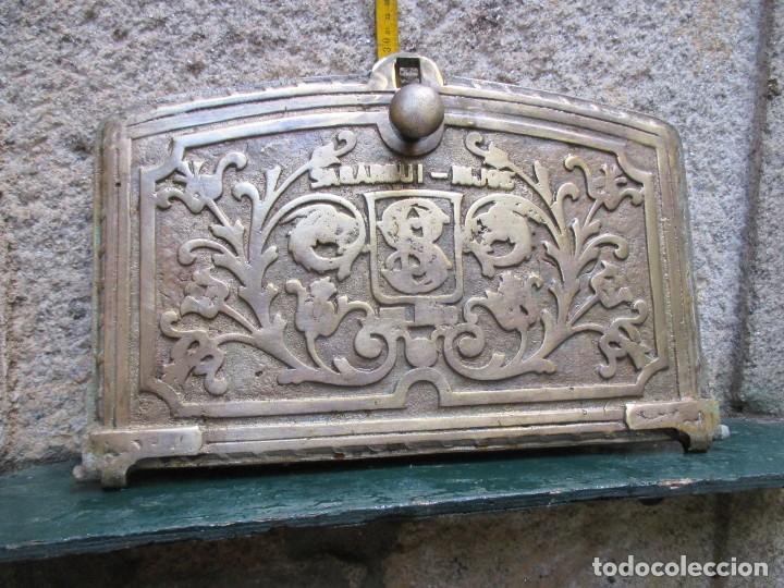 antigua y bella puerta de horno cocina en bronc - Comprar Objetos ...
