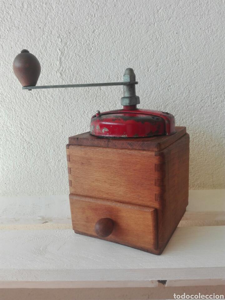 MOLINILLO CAFE MADERA ANTIGUO FRANCIA (Antigüedades - Técnicas - Molinillos de Café Antiguos)