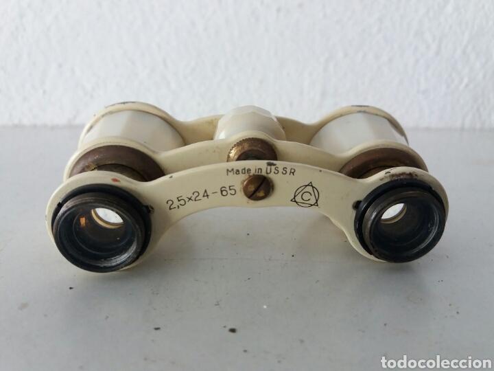 ANTIGUOS PRISMATICOS RUSSO DE BAQUELITA Y METAL DE TEATRO ...USSR AÑOS 30 (Antigüedades - Técnicas - Instrumentos Ópticos - Prismáticos Antiguos)