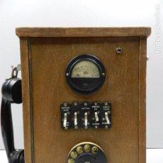 Teléfonos: IMPRESIONANTE TELÉFONO CENTRALITA DE MADERA AÑOS 50-60 RARO . Lote 102400555