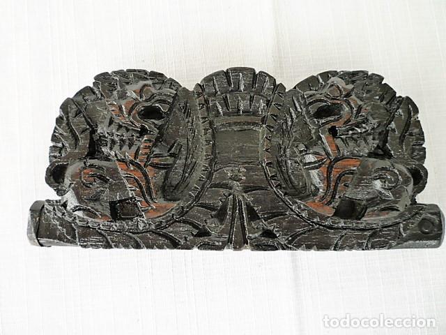 Antigüedades: BALANZA - ANTIGUA CAJA DE MADERA LABRADA PARA BASCULA - - Foto 5 - 102483319
