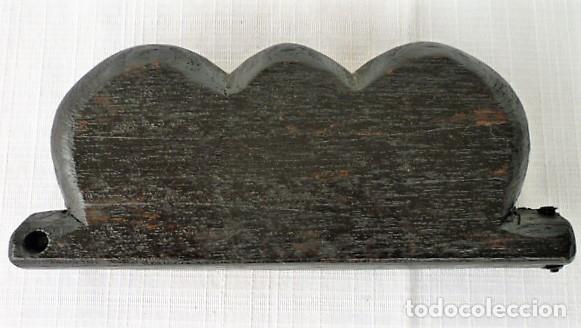 Antigüedades: BALANZA - ANTIGUA CAJA DE MADERA LABRADA PARA BASCULA - - Foto 6 - 102483319