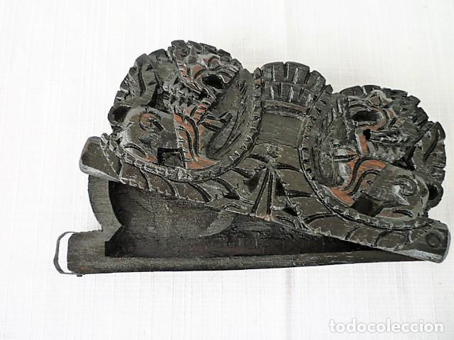 Antigüedades: BALANZA - ANTIGUA CAJA DE MADERA LABRADA PARA BASCULA - - Foto 8 - 102483319