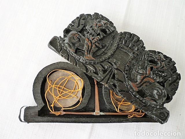 Antigüedades: BALANZA - ANTIGUA CAJA DE MADERA LABRADA PARA BASCULA - - Foto 11 - 102483319