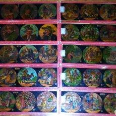 Antigüedades: ANTIGUA COLECCION DE CRISTALES NUMERADOS PARA LINTERNA MAGICA PRECIOSOS. Lote 102536164
