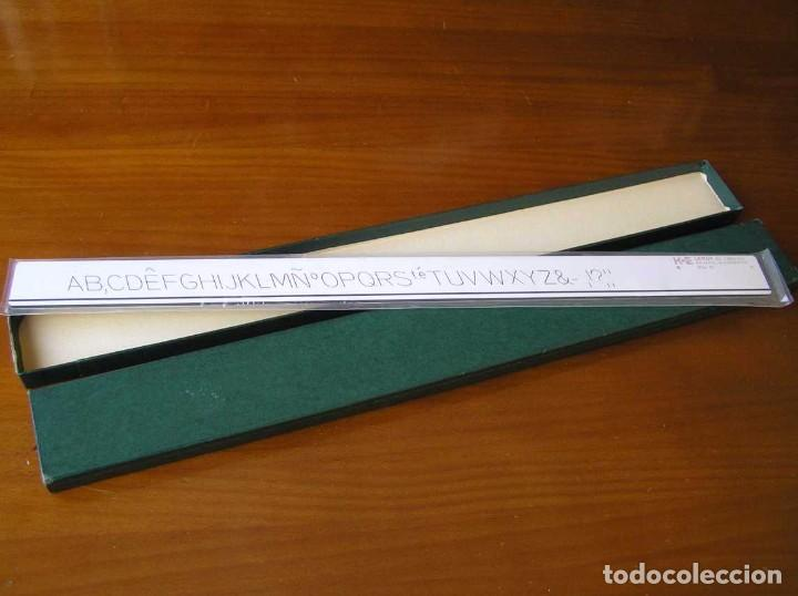Antigüedades: 61 1960-12 PLANTILLA DE ROTULACION LEROY K & E KEUFFEL & ESSER - PARA CANGREJO - - Foto 11 - 102583523