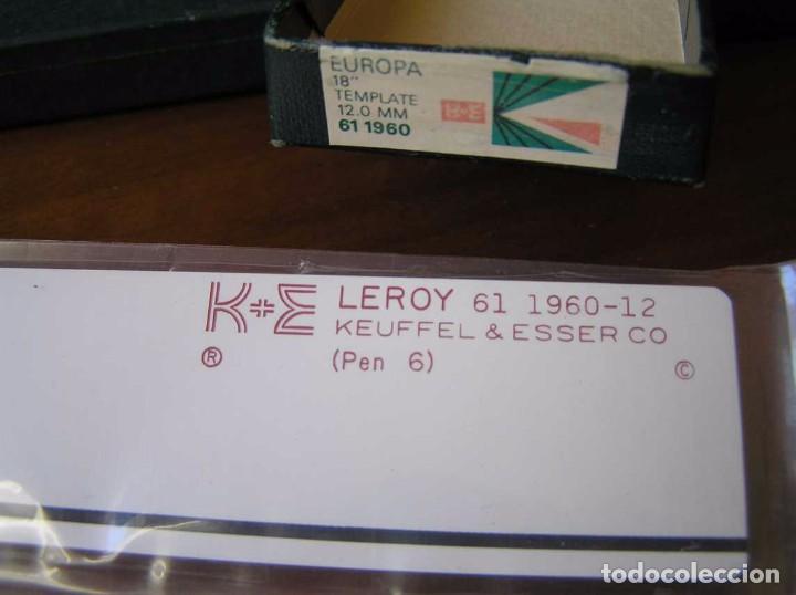 Antigüedades: 61 1960-12 PLANTILLA DE ROTULACION LEROY K & E KEUFFEL & ESSER - PARA CANGREJO - - Foto 18 - 102583523