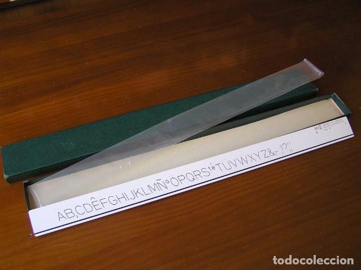 Antigüedades: 61 1960-12 PLANTILLA DE ROTULACION LEROY K & E KEUFFEL & ESSER - PARA CANGREJO - - Foto 25 - 102583523