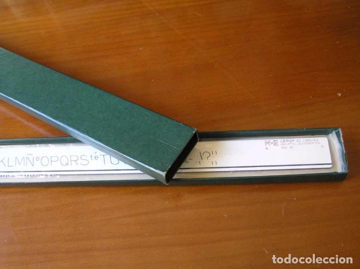 Antigüedades: 61 1960-12 PLANTILLA DE ROTULACION LEROY K & E KEUFFEL & ESSER - PARA CANGREJO - - Foto 34 - 102583523