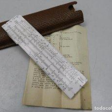 Antigüedades: ANTIGUA REGLA PEQUEÑA DE CALCULO CON FUNDA LOGAREX AÑOS 60-70 CALCULADORA INSTRUCCIONES . Lote 102654651