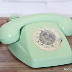 Phones - Teléfono Heraldo CITESA verde menta pátina original - 102799850
