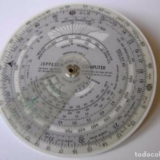 Antigüedades: REGLA DE CALCULO CIRCULAR CR-2 CR2 CR 2 JEPPESEN PARA NAVEGACION AEREA CALCULADORA SLIDE RULE CR-3. Lote 102801303