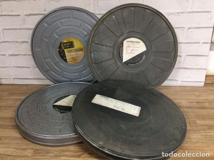BOBINA DE PELÍCULAS ANTIGUAS DE CINE DE MADRID FILMS CON FACTURA ORIGINAL DE COLUMBIA PICTURES (Antigüedades - Técnicas - Aparatos de Cine Antiguo - Cámaras de Super 8 mm Antiguas)