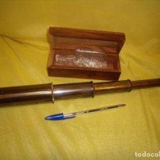 Antigüedades: CATALEJO METAL, CAJA DE MADERA, AÑOS 80, NUEVO.. Lote 102814351