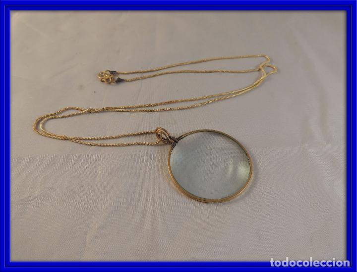 LUPA O MONOCULO CON CORDON PARA COLGAR (Antigüedades - Técnicas - Instrumentos Ópticos - Lupas Antiguas)