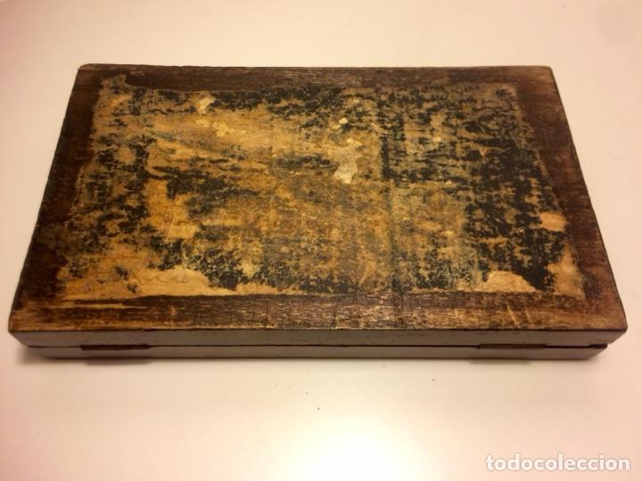 Antigüedades: Estuche antiguo de compases en madera palo santo de principios del siglo XX - Foto 5 - 102932447