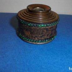 Antigüedades: ANTIGUO MONOCULAR - BRONCE PIEDRAS , PIEL . S. XIX SOBREDORADO ,MARCA DEL FABRICANTE ILEGIBLE , . Lote 102958719