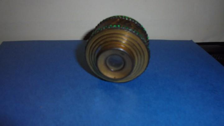 Antigüedades: ANTIGUO MONOCULAR - BRONCE PIEDRAS , PIEL . S. XIX SOBREDORADO ,MARCA DEL FABRICANTE ILEGIBLE , - Foto 5 - 102958719
