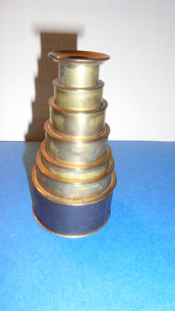 Antigüedades: ANTIGUO MONOCULAR - BRONCE , PIEL . S. XIX SOBREDORADO ,MARCA DEL FABRICANTE ILEGIBLE , - Foto 5 - 102959179