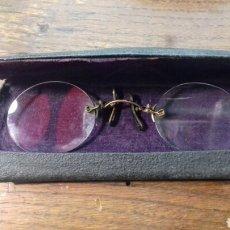 Antiquitäten - Gafas tipo Quevedo - con funda originql - 103140562