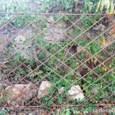 Antigüedades: REJA EN HIERRO MACIZO AÑOS 70 DE LÍNEAS SENCILLAS. . Lote 103328655