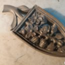 Antigüedades: SOPORTE ANTIGUO DE PLANCHA, BRONCE.. Lote 103330959