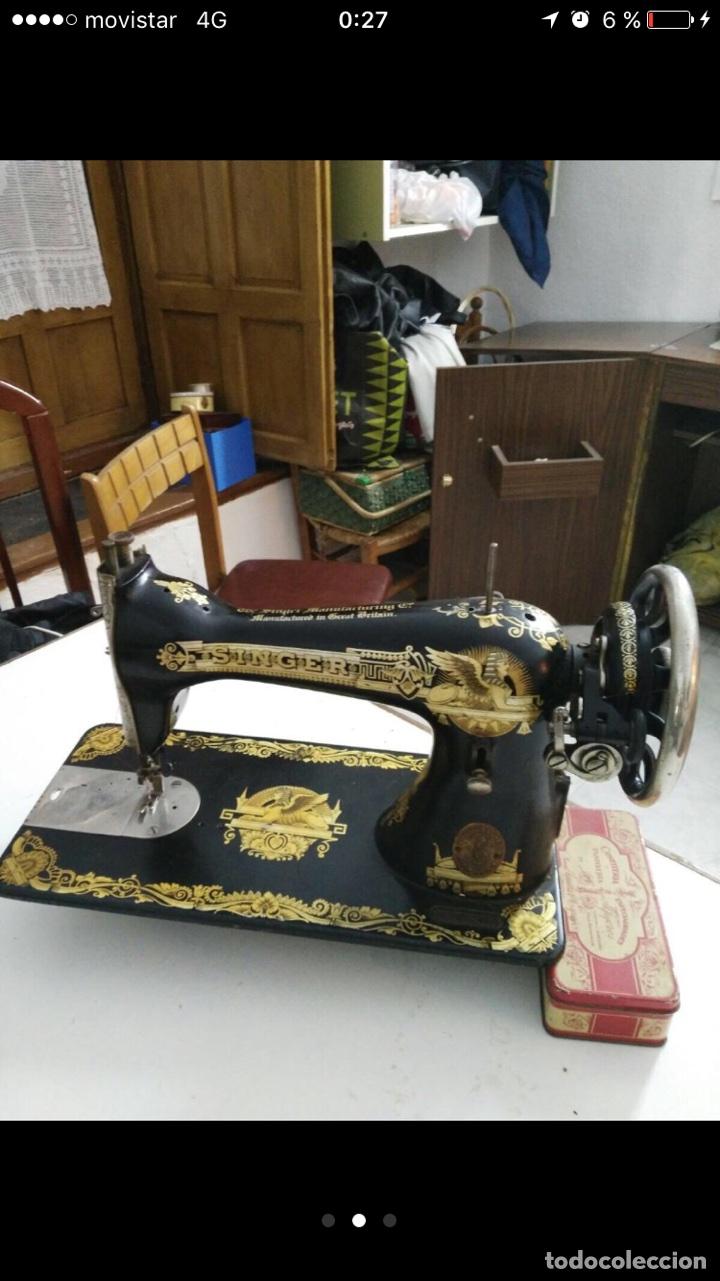 Antigüedades: Maquina coser Singer - Foto 2 - 103347230