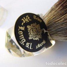 Antigüedades: BROCHA DE PELO DE TEJÓN. DIE LONG. ESPAÑA. Lote 103476459