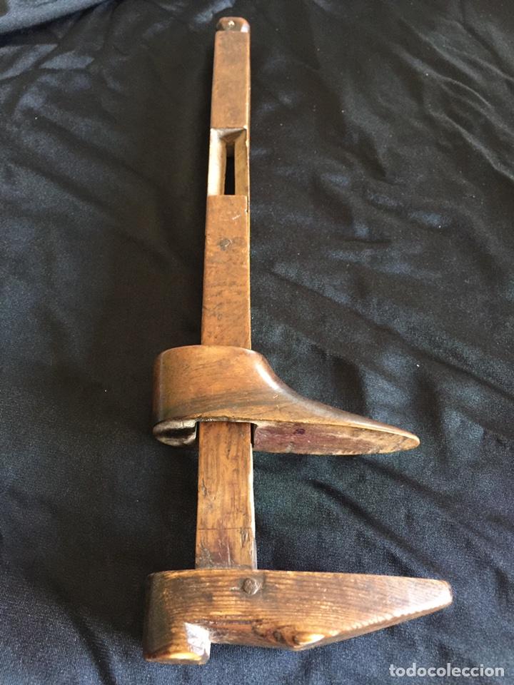Antigüedades: Muy antiguo medidor pie de rey siglo XVIII pieza de museo - Foto 2 - 103483120