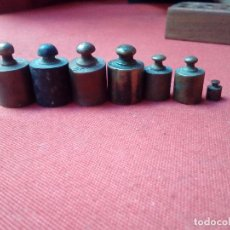 Antigüedades: 7 PEQUEÑAS PESAS. Lote 103538707