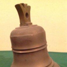 Antigüedades: CAMPANA DE BRONCE MEDIDAS ALTO 26CM X 21BOCA. Lote 103619319
